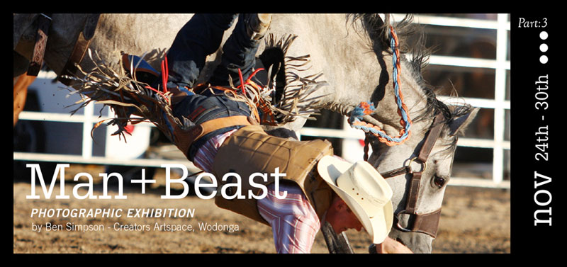 Man + Beast Exhibition Invite